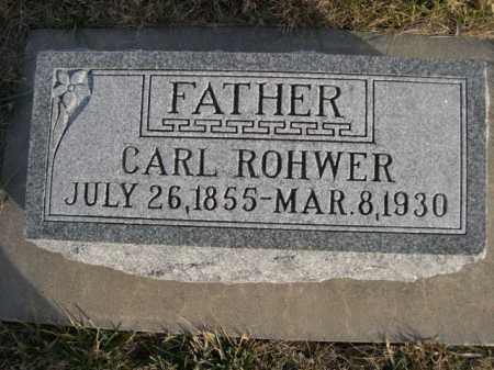 ROHWER, CARL - Douglas County, Nebraska | CARL ROHWER - Nebraska Gravestone Photos