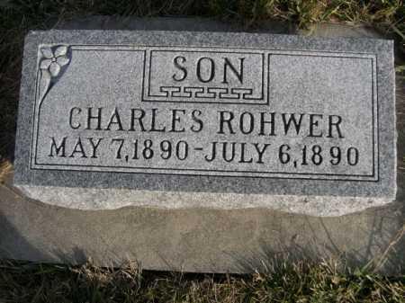 ROHWER, CHARLES - Douglas County, Nebraska | CHARLES ROHWER - Nebraska Gravestone Photos