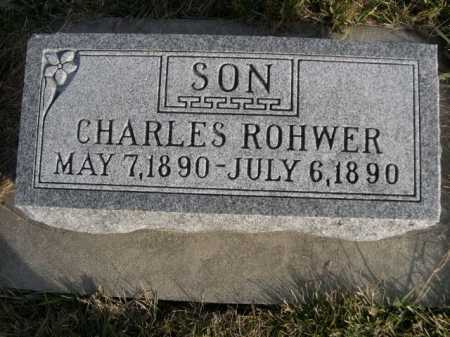ROHWER, CHARLES - Douglas County, Nebraska   CHARLES ROHWER - Nebraska Gravestone Photos