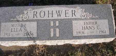 ROHWER, HANS C. - Douglas County, Nebraska | HANS C. ROHWER - Nebraska Gravestone Photos