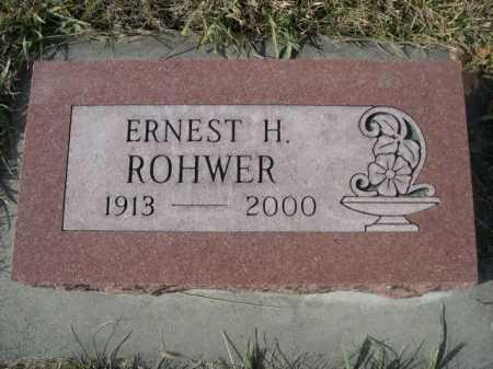 ROHWER, ERNEST H. - Douglas County, Nebraska | ERNEST H. ROHWER - Nebraska Gravestone Photos