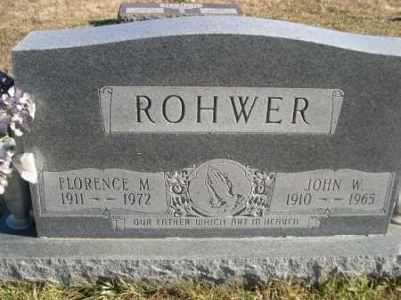 ROHWER, FLORENCE M. - Douglas County, Nebraska | FLORENCE M. ROHWER - Nebraska Gravestone Photos