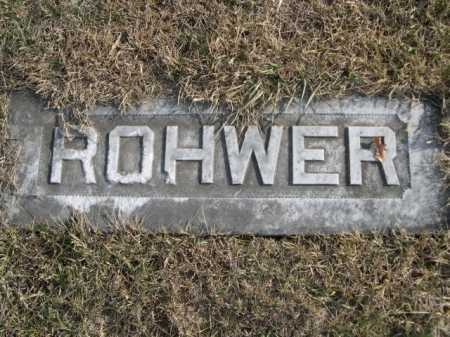 ROHWER, FAMILY - Douglas County, Nebraska | FAMILY ROHWER - Nebraska Gravestone Photos
