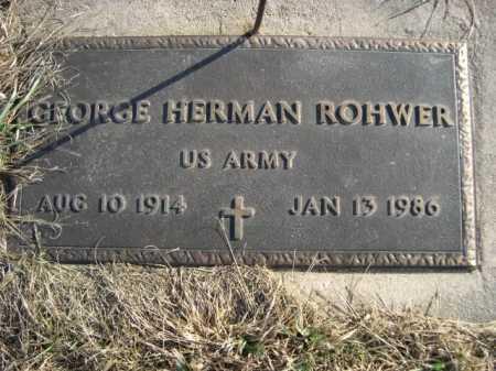 ROHWER, GEORGE HERMAN - Douglas County, Nebraska   GEORGE HERMAN ROHWER - Nebraska Gravestone Photos