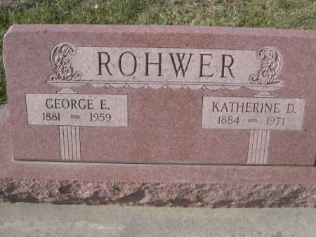 ROHWER, GEORGE E. - Douglas County, Nebraska | GEORGE E. ROHWER - Nebraska Gravestone Photos