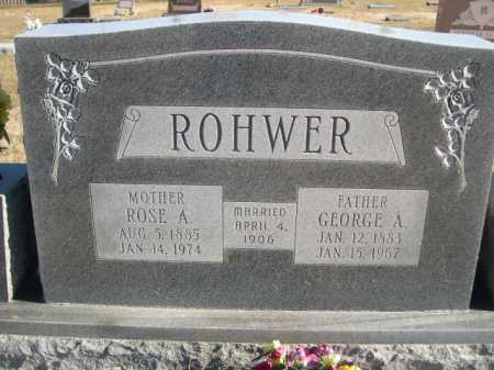 ROHWER, ROSE A. - Douglas County, Nebraska | ROSE A. ROHWER - Nebraska Gravestone Photos
