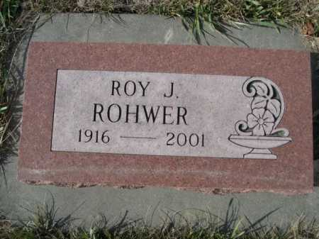 ROHWER, ROY J. - Douglas County, Nebraska | ROY J. ROHWER - Nebraska Gravestone Photos