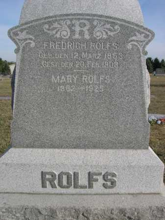 ROLFS, FREDRICH - Douglas County, Nebraska | FREDRICH ROLFS - Nebraska Gravestone Photos