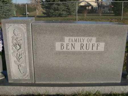 RUFF, BEN  (FAMILY OF) - Douglas County, Nebraska | BEN  (FAMILY OF) RUFF - Nebraska Gravestone Photos