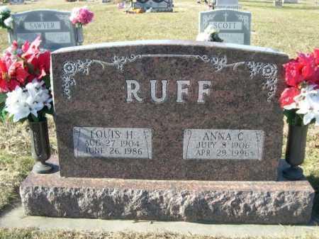 RUFF, ANNA C - Douglas County, Nebraska | ANNA C RUFF - Nebraska Gravestone Photos
