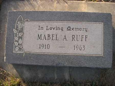 RUFF, MABEL - Douglas County, Nebraska   MABEL RUFF - Nebraska Gravestone Photos