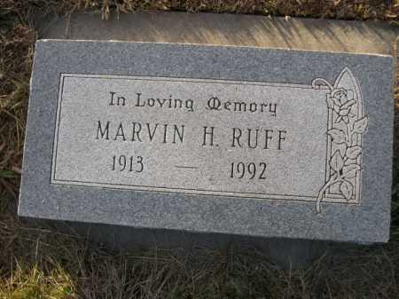 RUFF, MARVIN H. - Douglas County, Nebraska   MARVIN H. RUFF - Nebraska Gravestone Photos