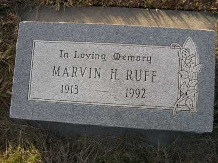RUFF, MARVIN H. - Douglas County, Nebraska | MARVIN H. RUFF - Nebraska Gravestone Photos