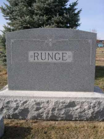 RUNGE, FAMILY - Douglas County, Nebraska   FAMILY RUNGE - Nebraska Gravestone Photos