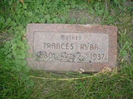 RYBA, FRANCES - Douglas County, Nebraska | FRANCES RYBA - Nebraska Gravestone Photos