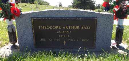 SASS, THEODORE ARTHUR (MILITARY MARKER) - Douglas County, Nebraska   THEODORE ARTHUR (MILITARY MARKER) SASS - Nebraska Gravestone Photos