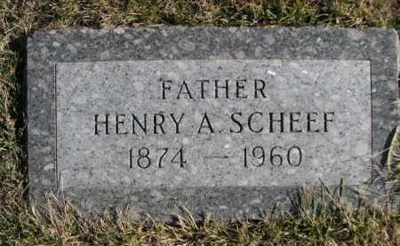 SCHEEF, HENRY A. - Douglas County, Nebraska | HENRY A. SCHEEF - Nebraska Gravestone Photos