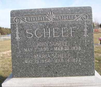 SCHEEF, JOHN - Douglas County, Nebraska | JOHN SCHEEF - Nebraska Gravestone Photos