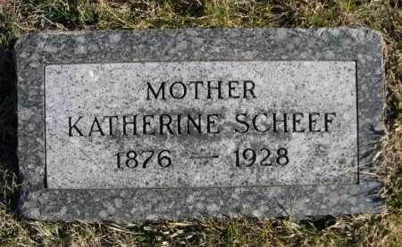 SCHEEF, KATHERINE - Douglas County, Nebraska | KATHERINE SCHEEF - Nebraska Gravestone Photos