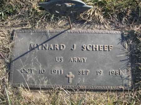 SCHEEF, MYNARD J. - Douglas County, Nebraska | MYNARD J. SCHEEF - Nebraska Gravestone Photos