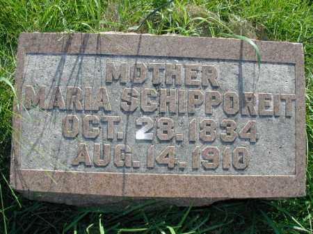 SCHIPPOREIT, MARIA - Douglas County, Nebraska   MARIA SCHIPPOREIT - Nebraska Gravestone Photos