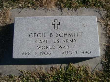 SCHMITT, CECIL B. - Douglas County, Nebraska | CECIL B. SCHMITT - Nebraska Gravestone Photos