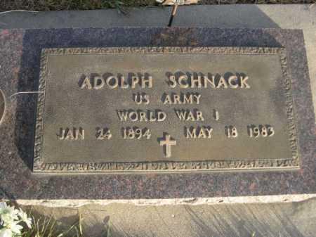 SCHNACK, ADOLPH - Douglas County, Nebraska | ADOLPH SCHNACK - Nebraska Gravestone Photos