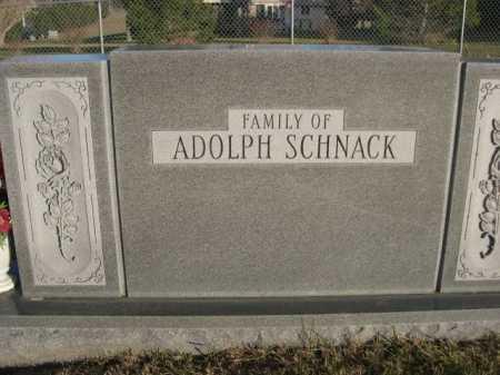 SCHNACK, ADOLPH (FAMILY OF) - Douglas County, Nebraska | ADOLPH (FAMILY OF) SCHNACK - Nebraska Gravestone Photos