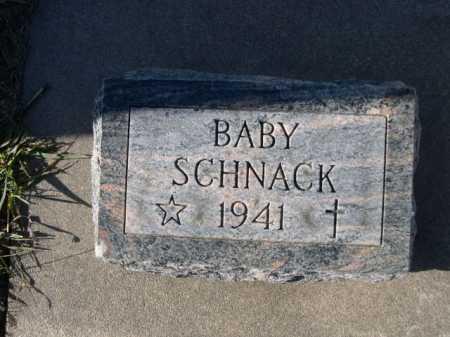 SCHNACK, BABY - Douglas County, Nebraska | BABY SCHNACK - Nebraska Gravestone Photos