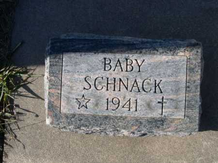 SCHNACK, BABY - Douglas County, Nebraska   BABY SCHNACK - Nebraska Gravestone Photos