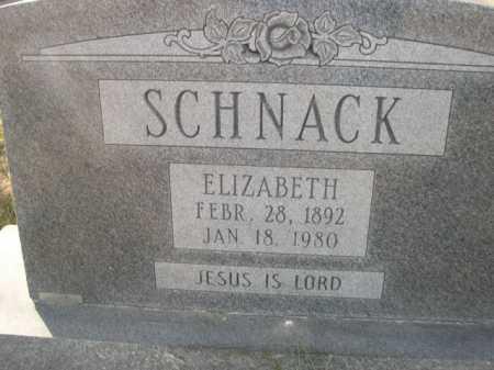 SCHNACK, ELIZABETH - Douglas County, Nebraska | ELIZABETH SCHNACK - Nebraska Gravestone Photos