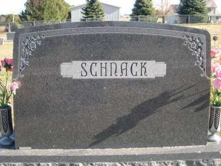 SCHNACK, FAMILY - Douglas County, Nebraska | FAMILY SCHNACK - Nebraska Gravestone Photos
