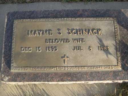 SCHNACK, MAYME S. - Douglas County, Nebraska | MAYME S. SCHNACK - Nebraska Gravestone Photos
