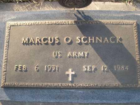 SCHNACK, MARCUS - Douglas County, Nebraska | MARCUS SCHNACK - Nebraska Gravestone Photos