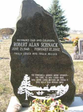 SCHNACK, ROBERT ALAN - Douglas County, Nebraska | ROBERT ALAN SCHNACK - Nebraska Gravestone Photos