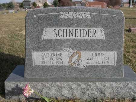 SCHNEIDER, CHRIS - Douglas County, Nebraska | CHRIS SCHNEIDER - Nebraska Gravestone Photos
