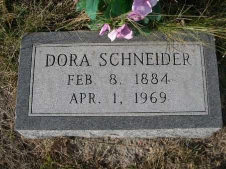 SCHNEIDER, DORA - Douglas County, Nebraska   DORA SCHNEIDER - Nebraska Gravestone Photos