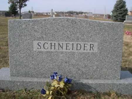 SCHNEIDER, FAMILY - Douglas County, Nebraska | FAMILY SCHNEIDER - Nebraska Gravestone Photos