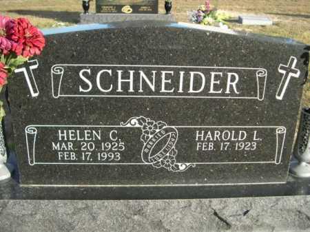 SCHNEIDER, HAROLD L. - Douglas County, Nebraska | HAROLD L. SCHNEIDER - Nebraska Gravestone Photos