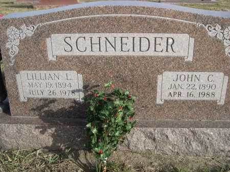 SCHNEIDER, JOHN C. - Douglas County, Nebraska | JOHN C. SCHNEIDER - Nebraska Gravestone Photos