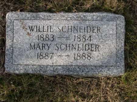 SCHNEIDER, WILLIE - Douglas County, Nebraska | WILLIE SCHNEIDER - Nebraska Gravestone Photos