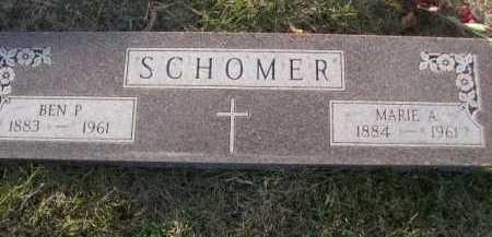 SCHOMER, BEN P. - Douglas County, Nebraska | BEN P. SCHOMER - Nebraska Gravestone Photos