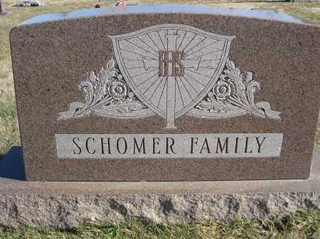 SCHOMER, FAMILY - Douglas County, Nebraska | FAMILY SCHOMER - Nebraska Gravestone Photos
