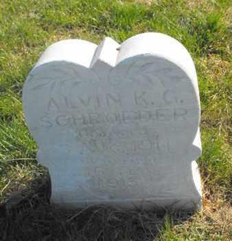 SCHROEDER, ALVIN - Douglas County, Nebraska   ALVIN SCHROEDER - Nebraska Gravestone Photos