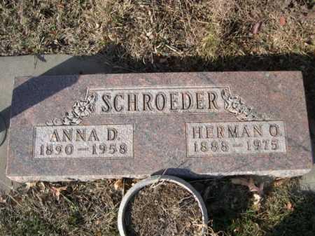 SCHROEDER, HERMAN O. - Douglas County, Nebraska | HERMAN O. SCHROEDER - Nebraska Gravestone Photos
