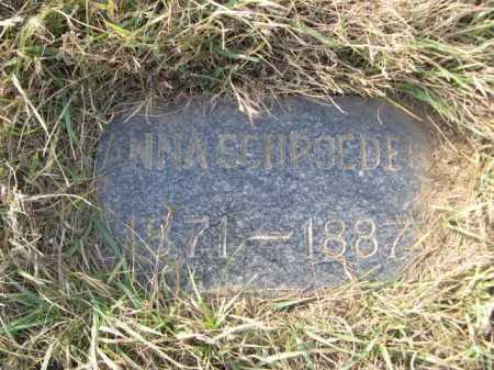 SCHROEDER, ANNA - Douglas County, Nebraska | ANNA SCHROEDER - Nebraska Gravestone Photos