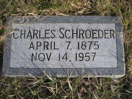 SCHROEDER, CHARLES - Douglas County, Nebraska | CHARLES SCHROEDER - Nebraska Gravestone Photos