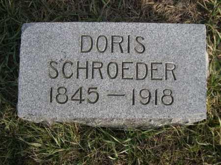 SCHROEDER, DORIS - Douglas County, Nebraska | DORIS SCHROEDER - Nebraska Gravestone Photos