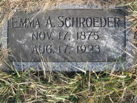 SCHROEDER, EMMA A. - Douglas County, Nebraska   EMMA A. SCHROEDER - Nebraska Gravestone Photos