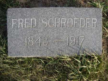 SCHROEDER, FRED - Douglas County, Nebraska | FRED SCHROEDER - Nebraska Gravestone Photos